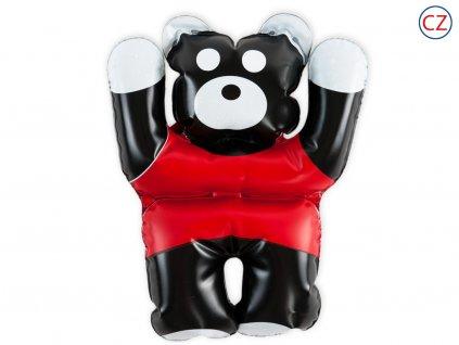 Černobílá nafukovací hračka - panda červená
