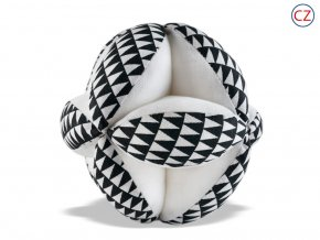 Černobílá hračka - Úchopový míček 03  Černobílé prvky, chratítko