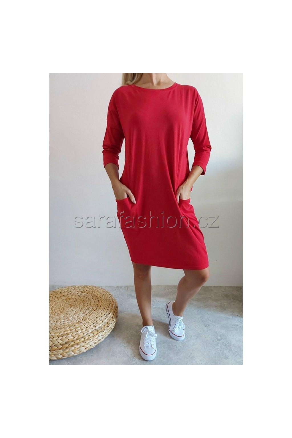 """Šaty/tunika """"lima"""" červené"""
