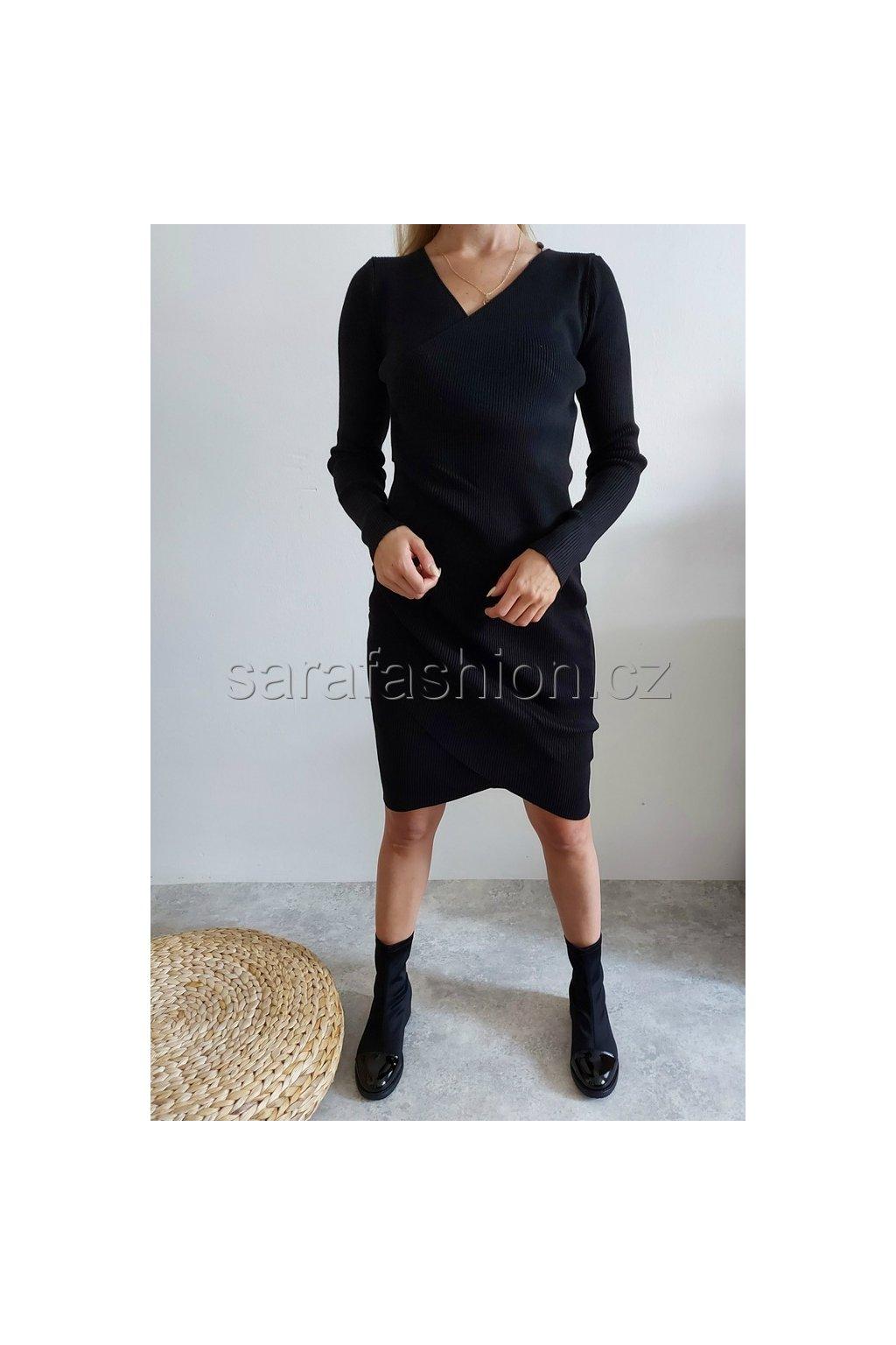 """Svetrové šaty """"sally"""" černé"""