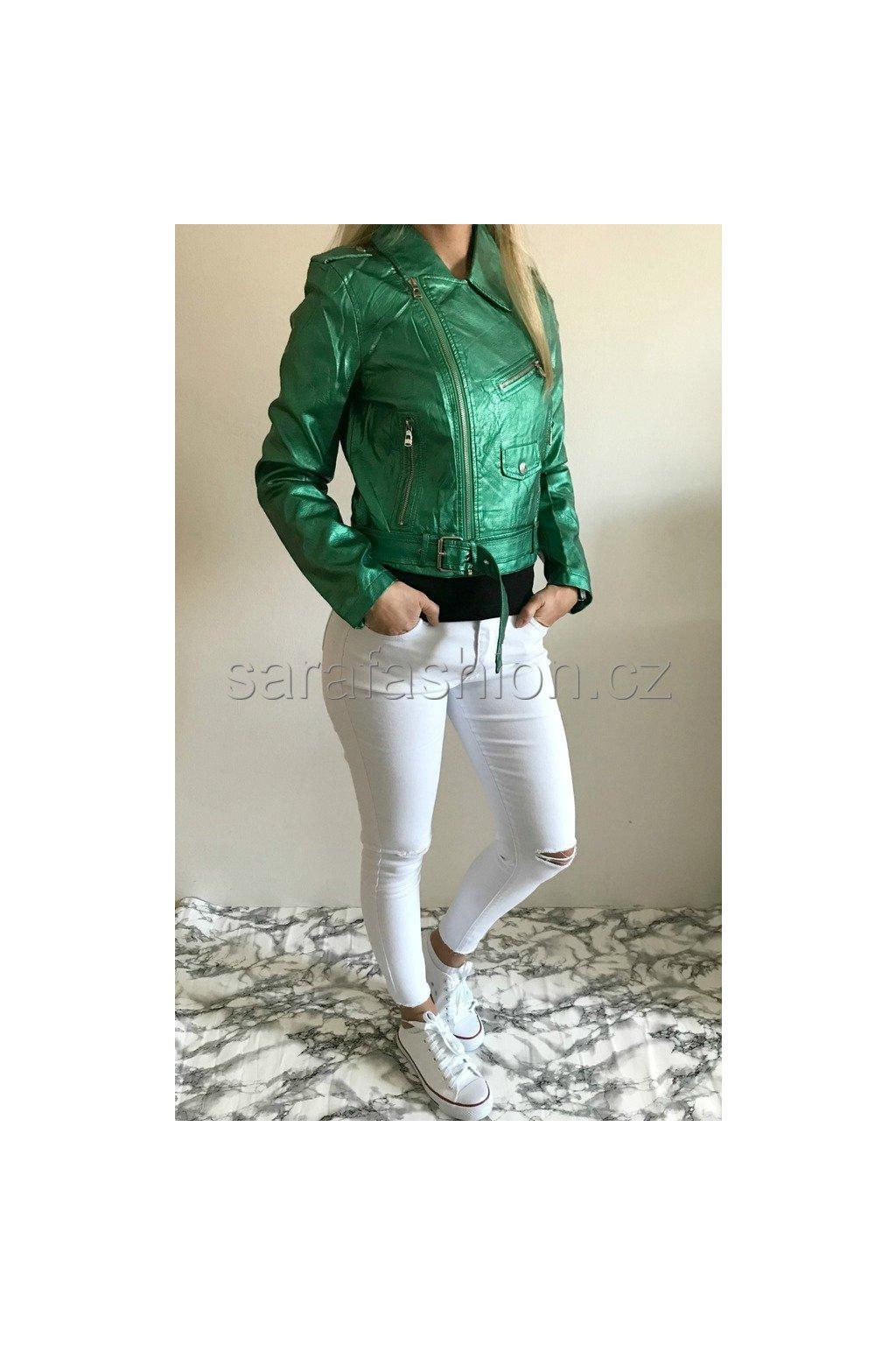 """Metalická bunda """"zarra"""" zelená"""