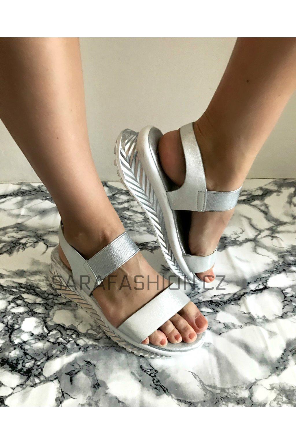 """Letní sandálky """"melissa"""" stříbrné"""