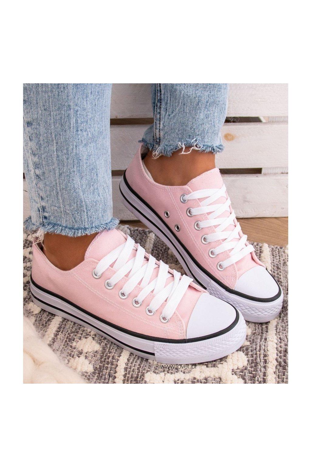 trampki tenisowki rozowe classic pink