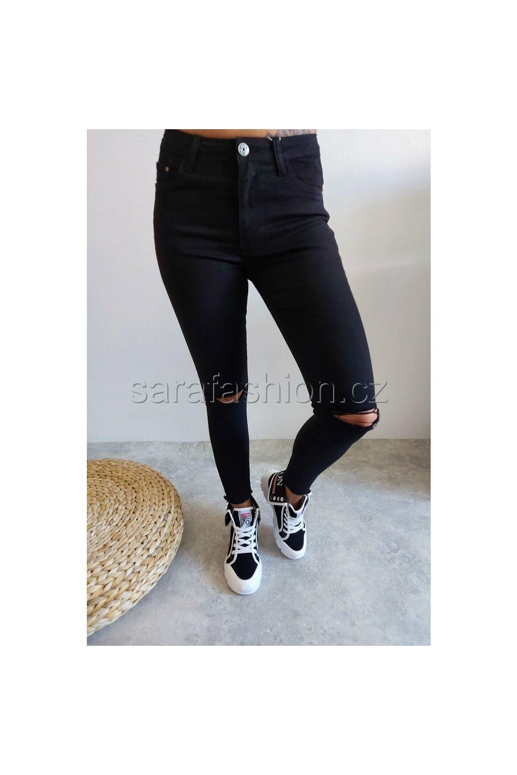 """Skinny kalhoty """"holac"""" black"""