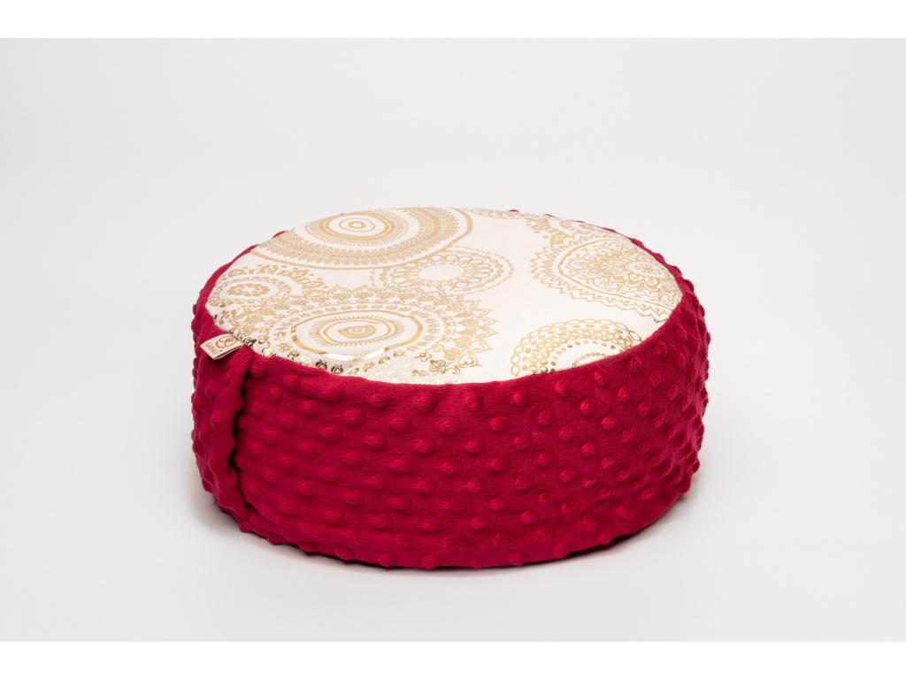 Meditační sedák Mandala - vínový