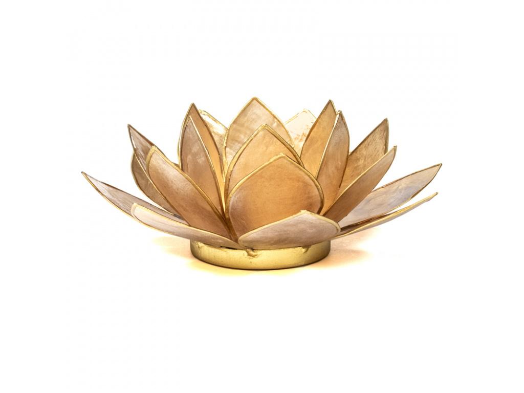 Lotosový svícen zlatá