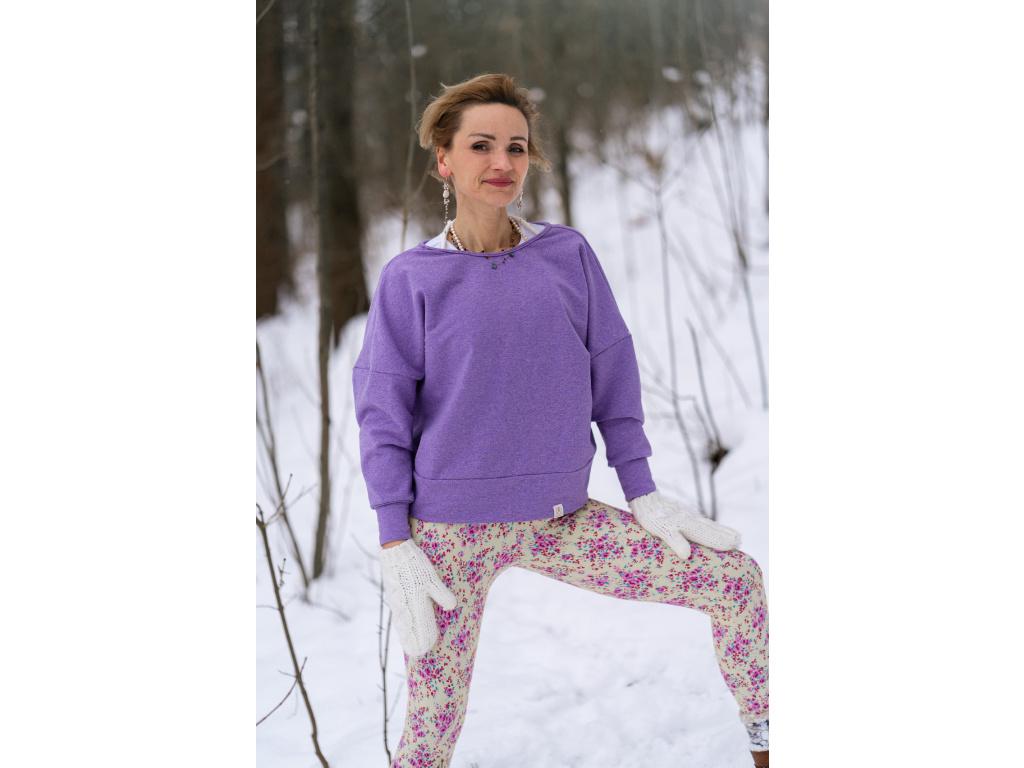 Oversize mikina Violet