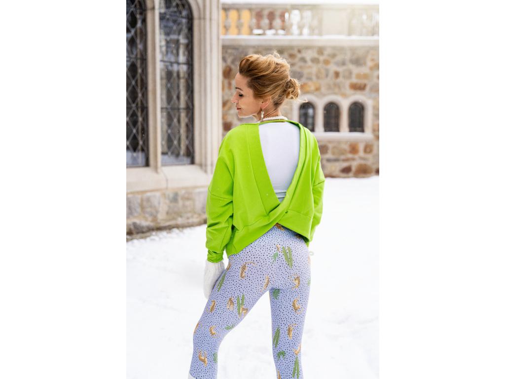 Oversize mikina green