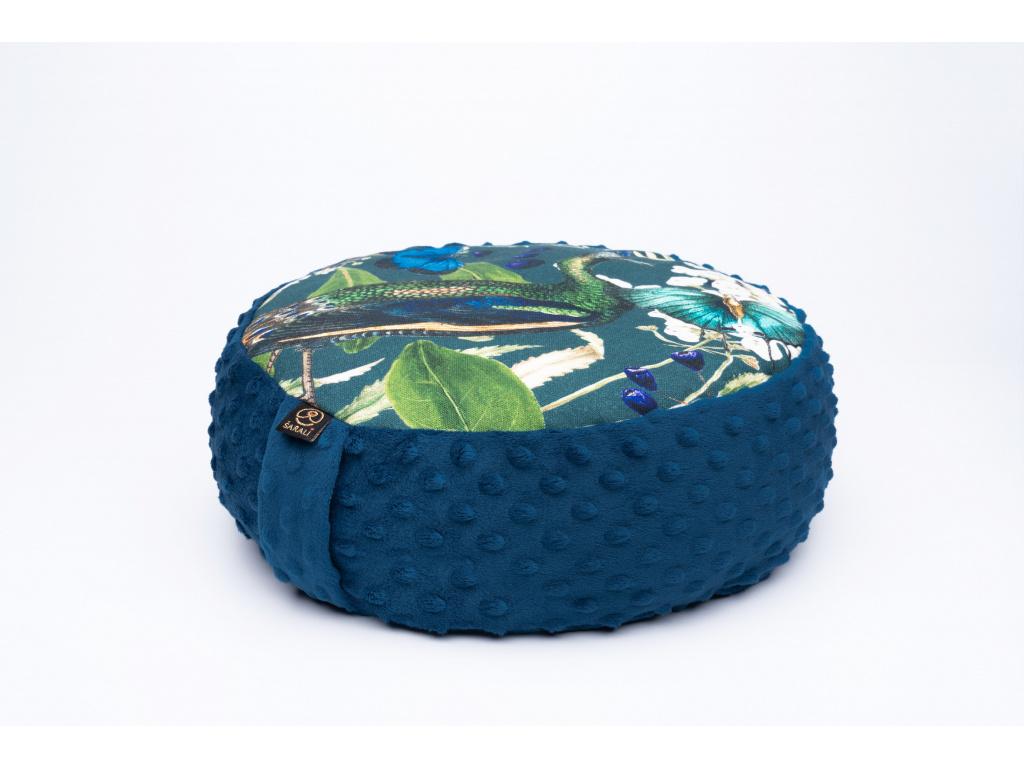 Meditační sedák Páv - tmavě modrý