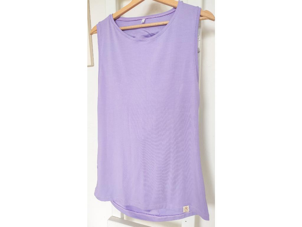 Bambusové tričko Freedom - šeříková