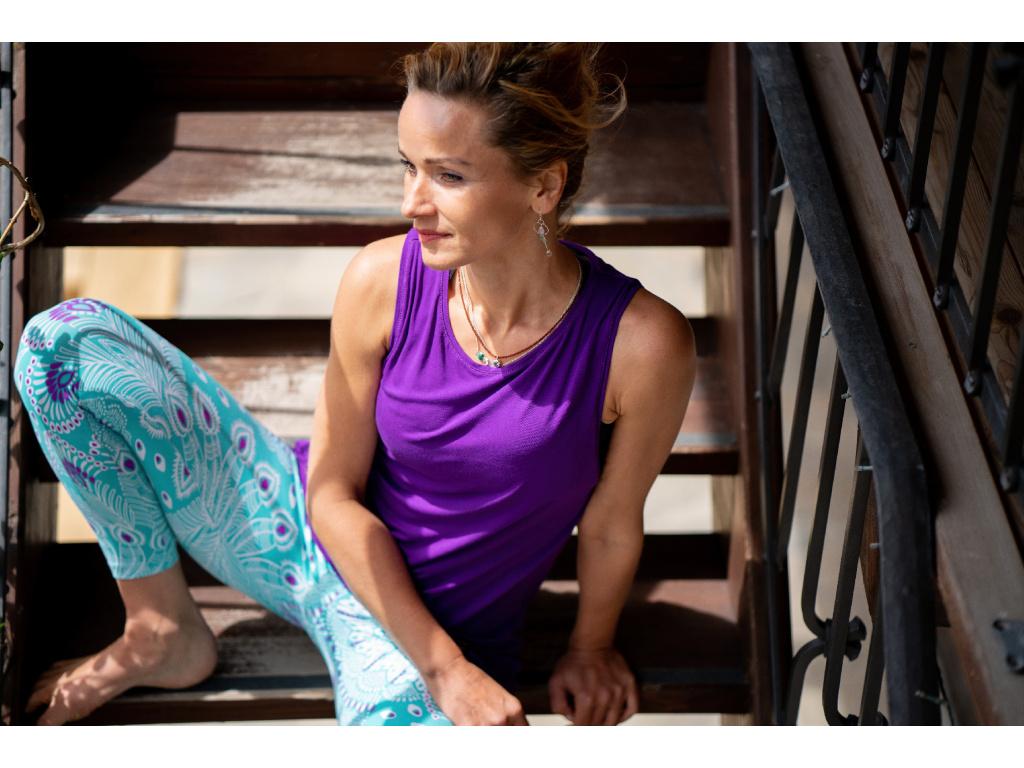 Bambusové tričko Freedom - tmavě fialová
