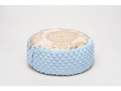 Meditační sedák Mandala - světle modrý
