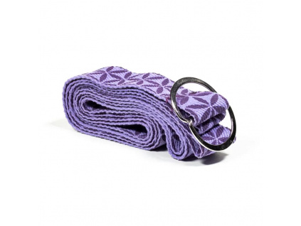 Pásek na jógu fialový