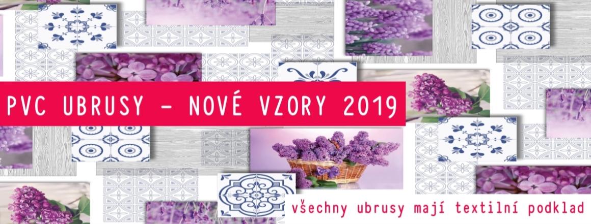 pvc ubrusy s textilním podkladem nové vzory 2019