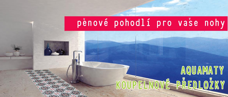 aquamat pěnový koberec koupelna