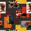 omyvatelný ubrus, ubrus pvc Sareha, chilli, koření - hnědý