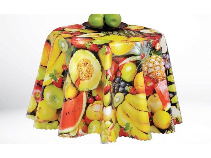 pvc ubrus mix ovoce 1245-00 vhodné pro školy, školky,jídelny, zahrady