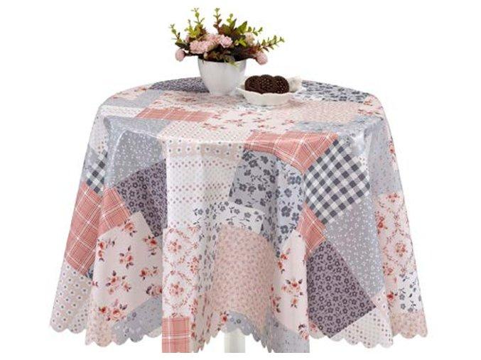 pvc ubrus s textilním podkladem patchwork 1395-03 Florista Sareha