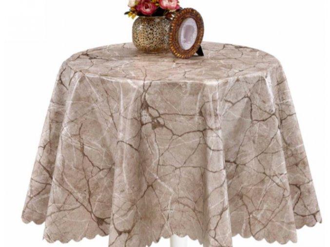 mramor pvc ubrus s textilním podkladem sareha 1453-01 florista
