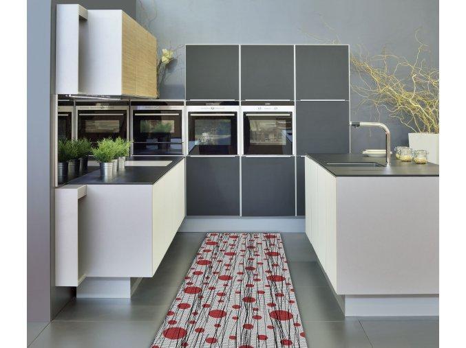 Předložka do koupelny, kuchyně - PVC, pěnová - moderní - měkká