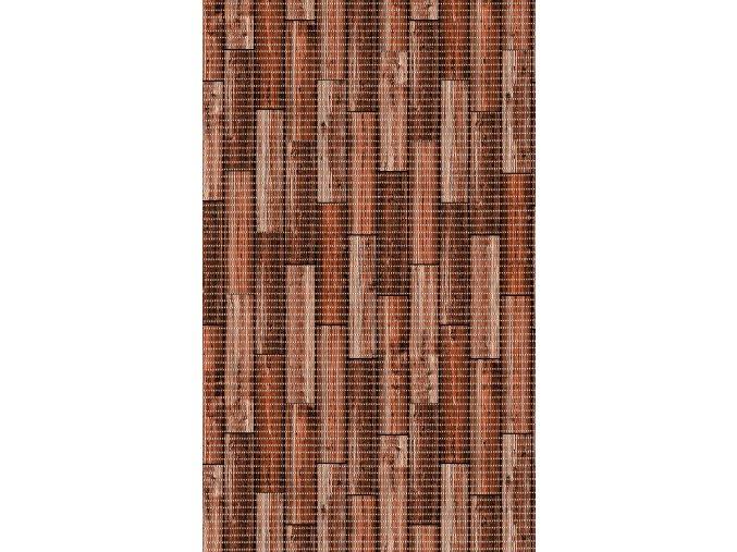 PVC předložka nejen do koupelny, snadná údržba 443-1 - dřevo - hnědočervená