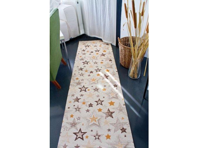dětský koupelnová rohož v roli hvězdy, hvězdičky 4021 pvc materiál  akvamat