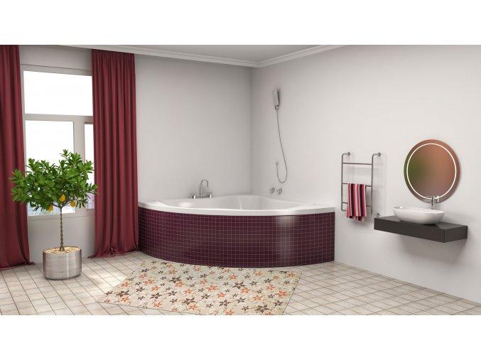 koupelnový běhoun pvc měkký 4016 květy