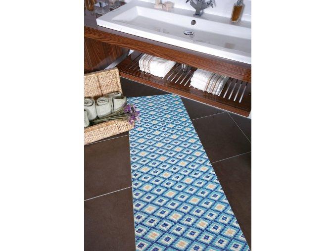 retro běhoun pvc materiálu do koupelny či kuchyně v roli 4015
