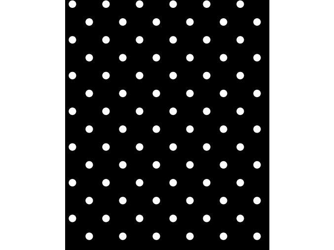 černý pvc ubrus s textilním podkladem Fantastik 1061-1