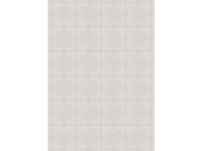 PVC igelitový plastový ubrus Fantastik Classic 525 51 bílý kachle