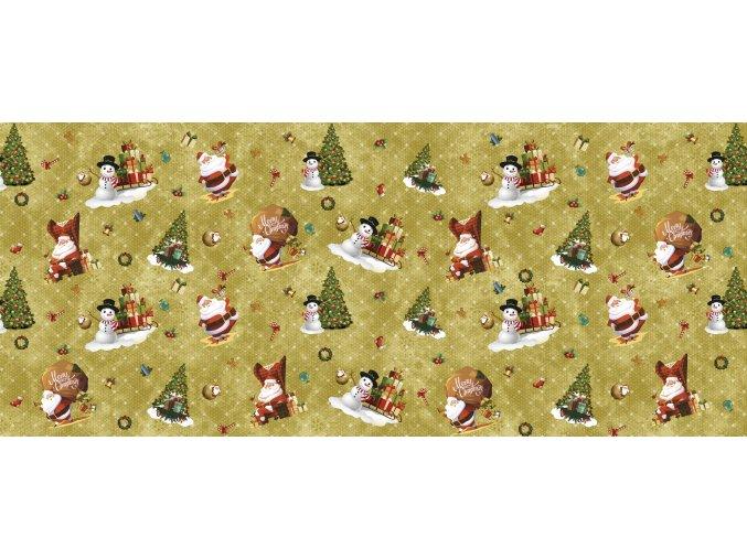 vánoční pvc ubrus vhodný pro období covid-19