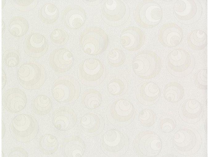 PVC igelitový plastový ubrus Fantastik Classic 522 51 bílý kolečka