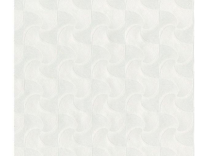 PVC igelitový plastový ubrus Fantastik Classic 513 51 bílý vrtulky