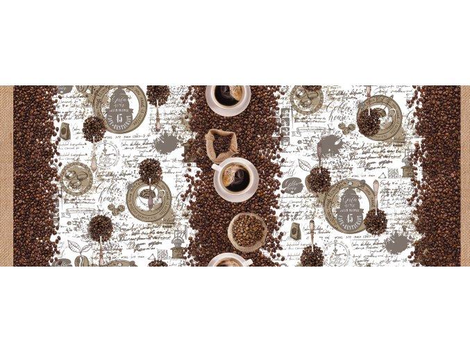 ubrus káva, coffee, kávové zrno, anticovid, omyvatelný