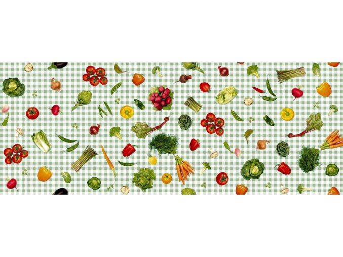 ubrus s motivem zeleniny zelený