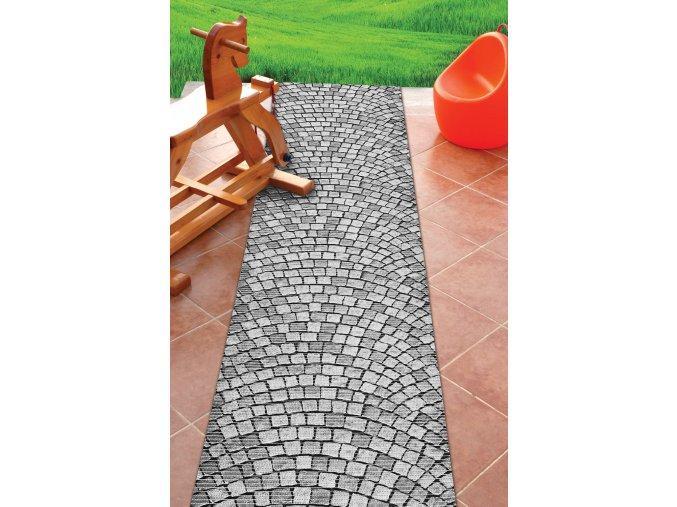 PVC pěnová předložka do koupelny, kuchyně, na zahradu - přírodní kámen mozaika 579
