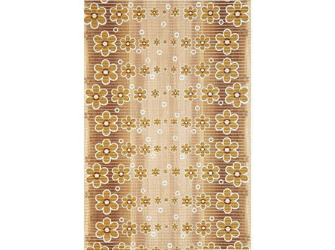 Aquamat - pěnová předložka - PVC, 464-3 květy, hnědá