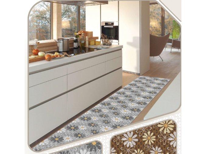 Extra měkká PVC předložka do kuchyně, koupelny, chodby, k bazénu - Terramat 1026