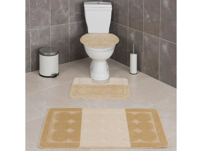 Koupelnová předložka Confeti, kola - béžová, Sareha