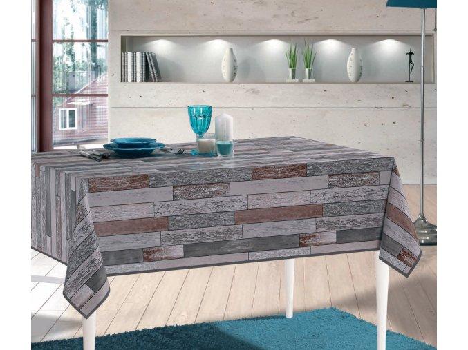Moderní PVC ubrus, dřevěná podlaha, igelitový ubrus Moderno 6026