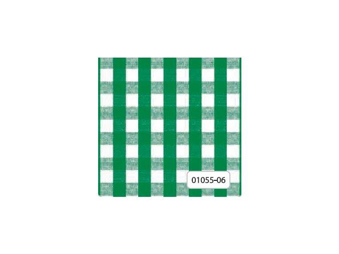 kostkovaný omyvatelný ubrus, pvc ubrus káro - zelený Florista 1055-06, Sareha