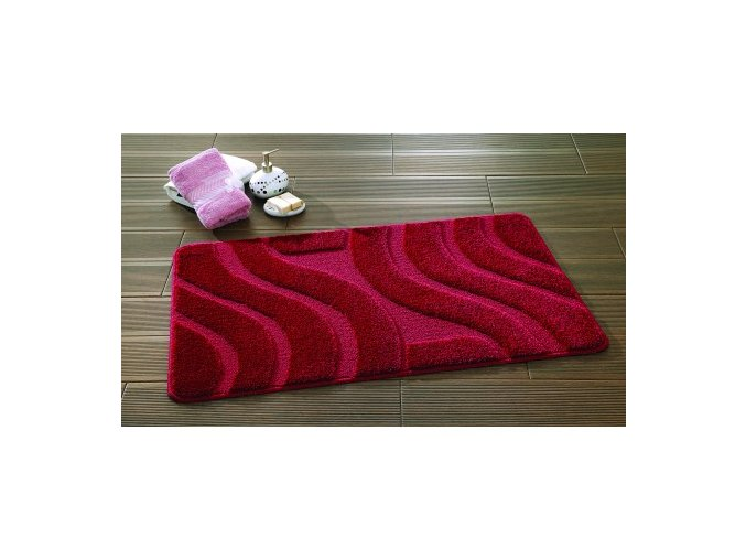 Předložka koupelnová Sareha, vlny červená