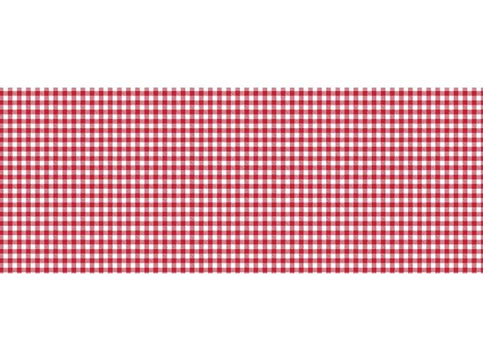 PVC ubrus, tradiční kostka, v roli, Sareha červená 1345-01
