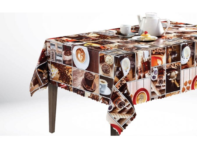 pvc ubrus, káva, coffee 1065-00 Sareha
