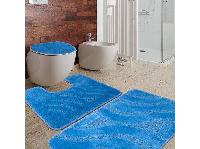 Koupelnový set předložek Sareha, 2 ks, vlny, protiskluzové, antibakteriální