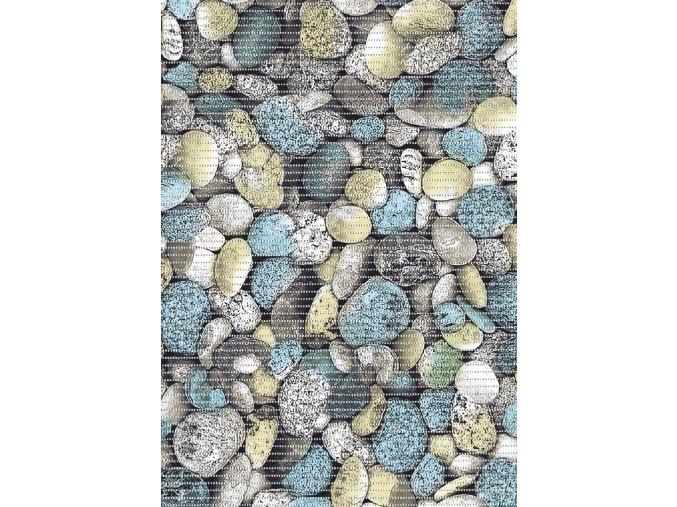 Aquamat - pěnová předložka - do kuchyně, koupelny - mix kamenů 29-1 - modrá