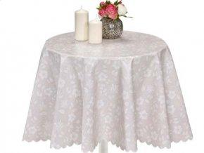 PVC ubrus jemný květ s textilním podkladem 1398-01