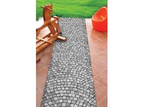 akvamat PVC pěnová předložka do koupelny, kuchyně, na zahradu - přírodní kámen mozaika 579