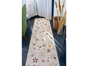 dětský koupelnová rohož v roli hvězdy, hvězdičky 4021 pvc materiál
