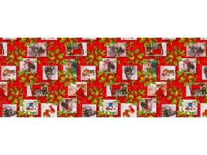 vánoční pvc ubrus, covid-19